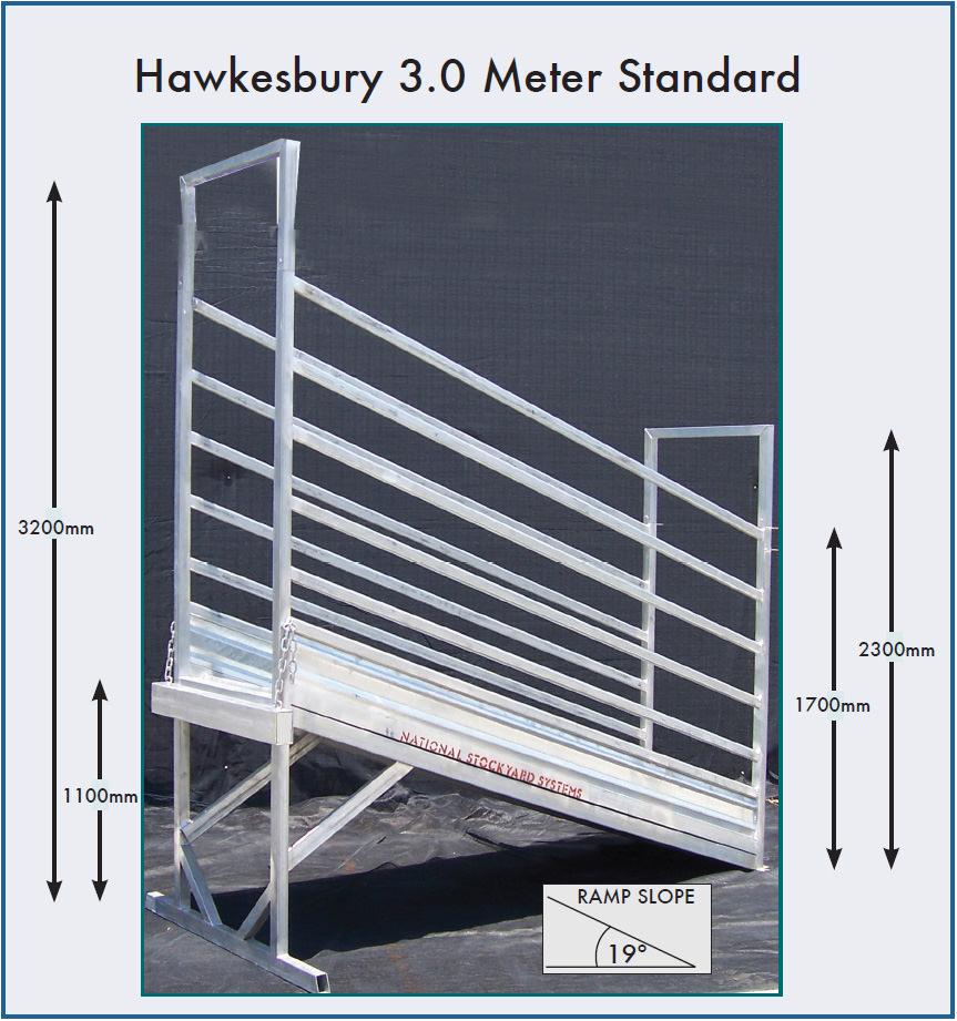 Hawkesbury 3.0 Metre Standard Cattle Loading Ramp (Non Adjustable)
