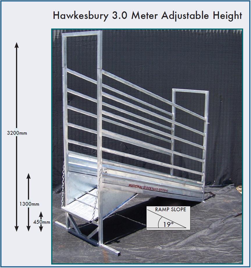 Hawkesbury 3.0 Metre Adjustable Height Cattle Loading Ramp